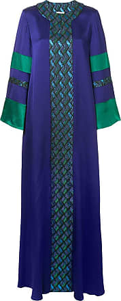 Layeur Vestido longo com recortes geométricos - Roxo