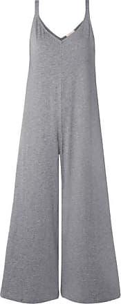 Eberjey Charlie Slub Pima Cotton-jersey Jumpsuit - Gray