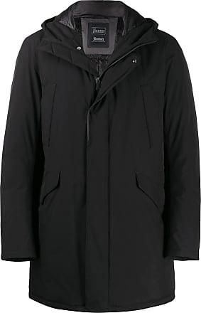 Herno Black Laminar hooded parka