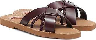 Chloé Woody leather sandals
