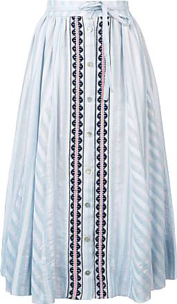 Lemlem Saia longa com abotoamento Nefasi - Azul