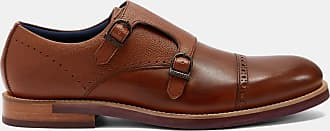 Ted Baker Double Buckle Leather Monk Shoes in Tan RAMINK, Mens Accessories