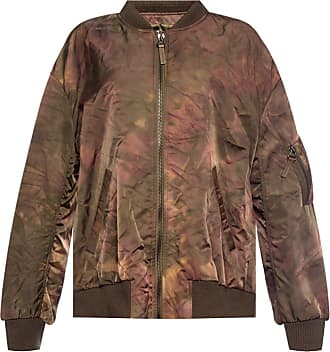 Yves Salomon Jacket With Gathers Womens Brown