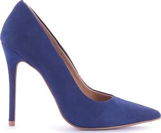 Paula Brazil Scarpin Grazi 930-80030/930-80138/999-80562 Couro Nobuck Azul Azul - 38