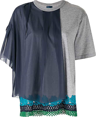 Kolor layered panel T-shirt - Grey