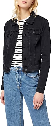 Noisy May Womens Nmdebra L/s Wash Denim Jacket Noos, Black (Black Black), 32R (Size: X-Large)