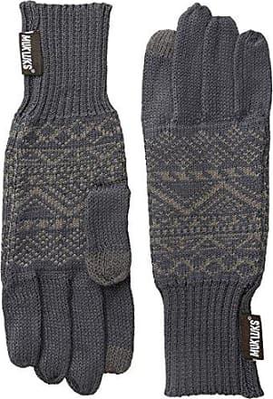 Muk Luks Muk Luks Mens Fine Gauge Jacquard Glove, Grey, One Size