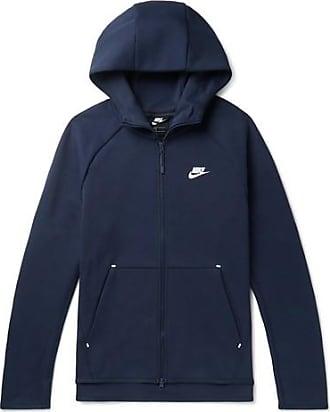 Nike Sportswear Cotton-blend Tech Fleece Zip-up Hoodie - Navy 03c3592cc