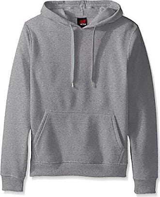 Southpole Mens Active Basic Hooded Fleece Pullover, Heather Grey(New), X-Large