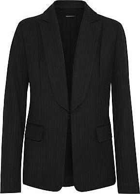 Elie Tahari Elie Tahari Woman Lorelei Pinstriped Twill Blazer Black Size 10