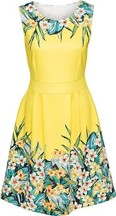 BODYFLIRT boutique Dam Klänning med blommönster i gul utan ärm - BODYFLIRT  boutique 0bbb0366f4a9f