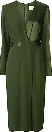 Dion Lee pivot drape long sleeve dress - Green