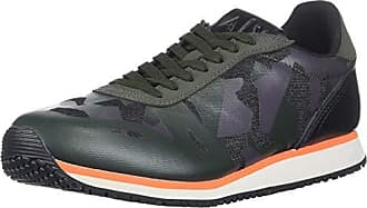 A|X Armani Exchange Mens Low Top Camo Lace Up Sneakers Climbing Ivy, 7 Medium US