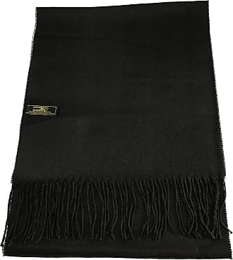 CJ Apparel Black Mens Solid Colour Design Fashion Knitted Scarf Seconds Scarves Fall/Winter Wrap NEW