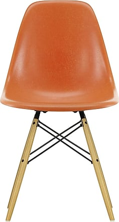 Vitra DSW Fiberglass Side Chair Golden Maple Base