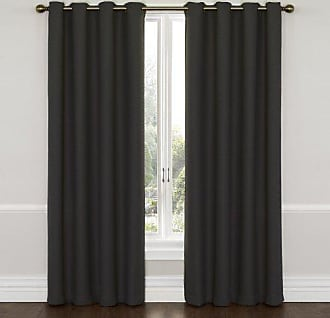 Eclipse Blackout Curtains for Bedroom - Wyndham 52 x 63 Insulated Darkening Single Panel Grommet Top Window Treatment Living Room, Charcoal