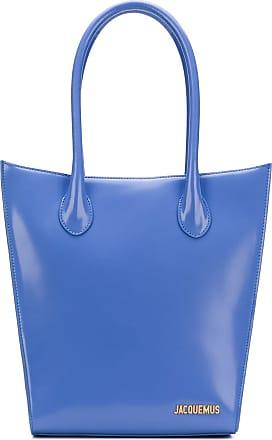 Jacquemus Bolsa tote de couro - Azul