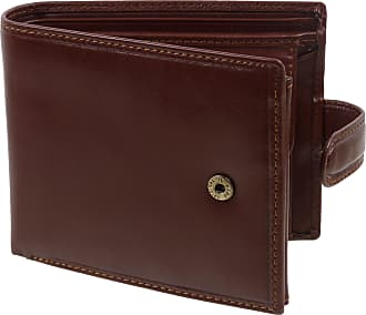 Visconti Mens LUXURY Italian LEATHER Tabbed WALLET by Visconti; Monza Collection GIFT BOXED (Brown)