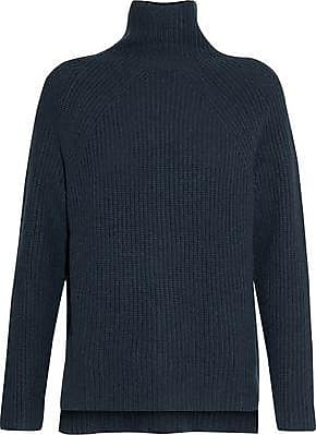 N.Peal N.peal Woman Ribbed Cashmere Turtleneck Sweater Navy Size XS