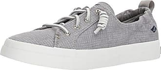 Sperry Top-Sider Womens Crest Ebb Two-Tone Sneaker, Grey, 6 Medium US