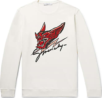 Givenchy Printed Loopback Cotton-jersey Sweatshirt - Off-white
