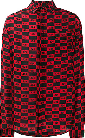 424 Hemd mit Schachbrettmuster - Rot