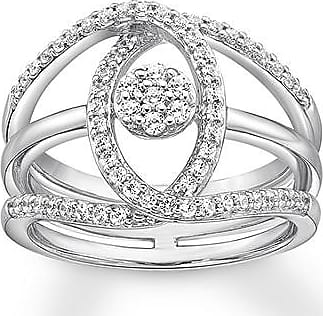 Kay Jewelers Diamond Ring 3/8 ct tw Round-cut Sterling Silver
