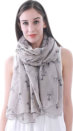 Lina & Lily German Shorthaired Pointer Dog Print Scarf Shawl (Khaki)