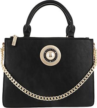 0d294481b04 Versace Jeans Couture Emblem Crossbody Bag Black Tassen met handvat zwart