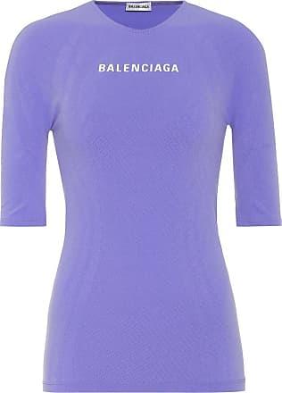 Balenciaga Logo athletic stretch-jersey top