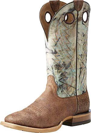 36f9cee668 Ariat Mens Branding Pen Western Boots in Scratched Sand Leather, D Medium  Width, Size