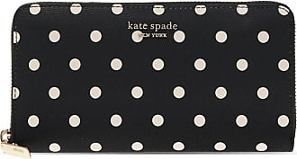 Kate Spade New York Spencer Cabana Dot Wallet Womens Black