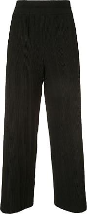 Yigal AzrouËl ottoman fortuny knit trousers - Black