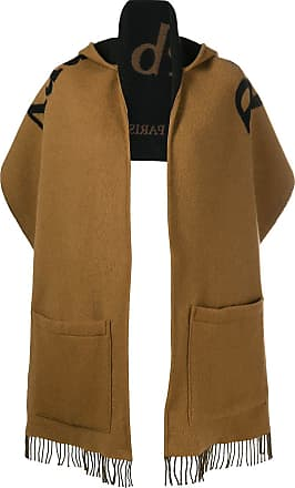 5d26e54e25 Burberry Archive Logo Wool Cashmere Hooded Scarf - Brown