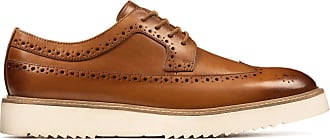 Clarks Ernest Limit Leather Shoes in Tan Standard Fit Size 10.5