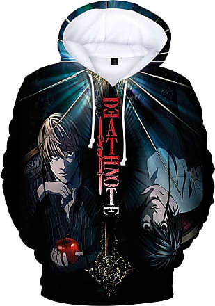 Haililais Death Note Pullover Personality Sweatshirt Winter Hooded Parent-Child wear Tops Printed Pullover Unisex (Color : A01, Size : 180)