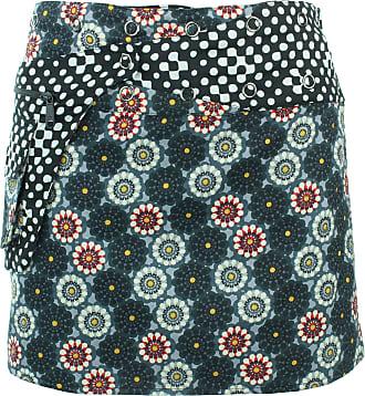 Loud Elephant Reversible Popper Wrap Mini Skirt - Kaleidoscope/Mono Dots
