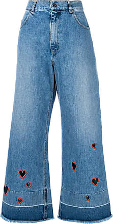 0e86a2b233 Vivetta cut-out heart cropped jeans - Blue