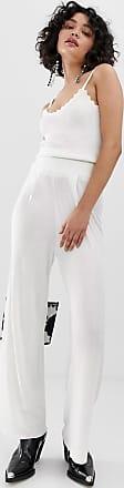 Emory Park Pantalón de pernera ancha con cintura fruncida de Emory Park-Blanco