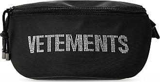 VETEMENTS Branded Belt Bag Womens Black