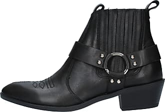 Inuovo Boot Texan Boots Leather Model 165003 Black Black Size: 8.5 UK