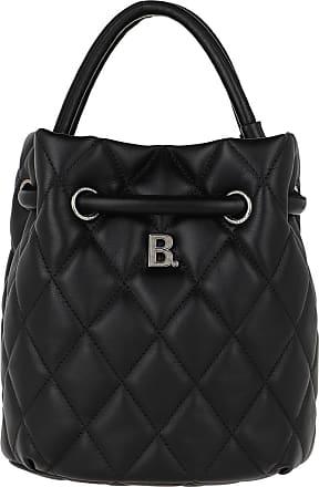 Balenciaga Quilted B Line Bucket Bag Leather Black Beuteltasche schwarz