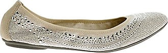Hush Puppies Womens Chaste Ballet, Silver Stud, 7 3E