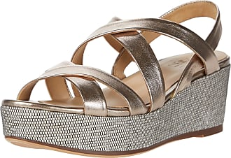 Naturalizer womens Unique Wedge Sandals Brown Size: 7.5 Wide