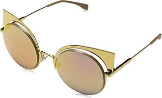 Fendi Fendi Womens Sonnenbrille FF0177S-001-53 Sunglasses, Gold, 57