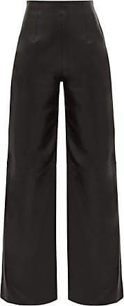 16Arlington Marvin Tailored Flared-leg Leather Suit Trousers - Womens - Black