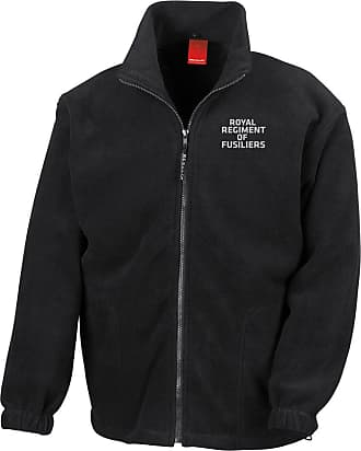 Military Online Royal Regiment of Fusiliers Text Embroidered Logo - Official British Army Full Zip Heavyweight Fleece Jacket