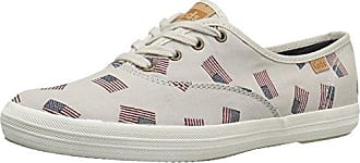 Keds Womens Champion Flag Jacquard Fashion Sneaker, Cream, 5 M US
