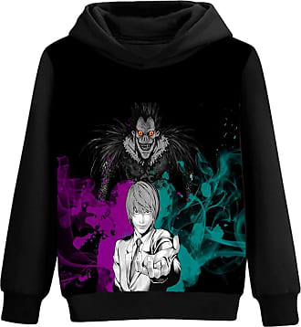 Haililais Death Note Pullover Personalise Hooded Long Sleeve Sweatshirt 3D Color Printing Fashion Hoodies Pullover Unisex (Color : A08, Size : XL)