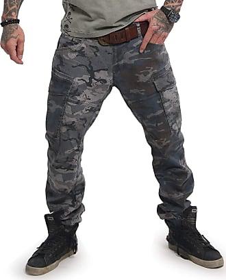 Yakuza Men Cargo Pants Harlekin, Size:W36, Color:Bunt
